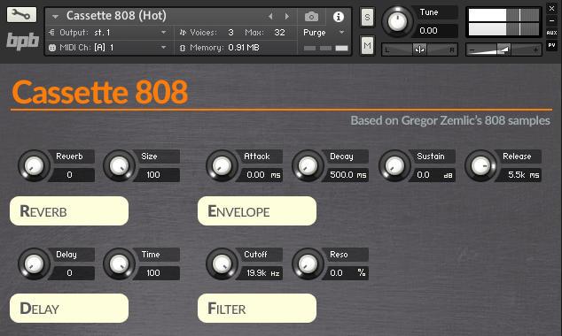 图片[1]-[TR-808鼓机的采样包+Kontakt音源]BPB Cassette 808-萌未来