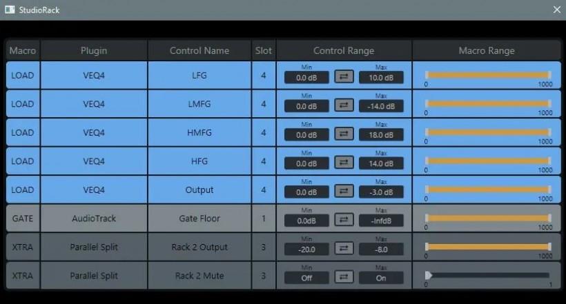 快速底鼓混音的 Waves StudioRack 链路预设