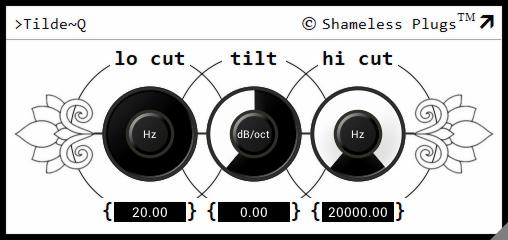 ShamelessPlugs家的Tilde~Q免费斜率均衡器