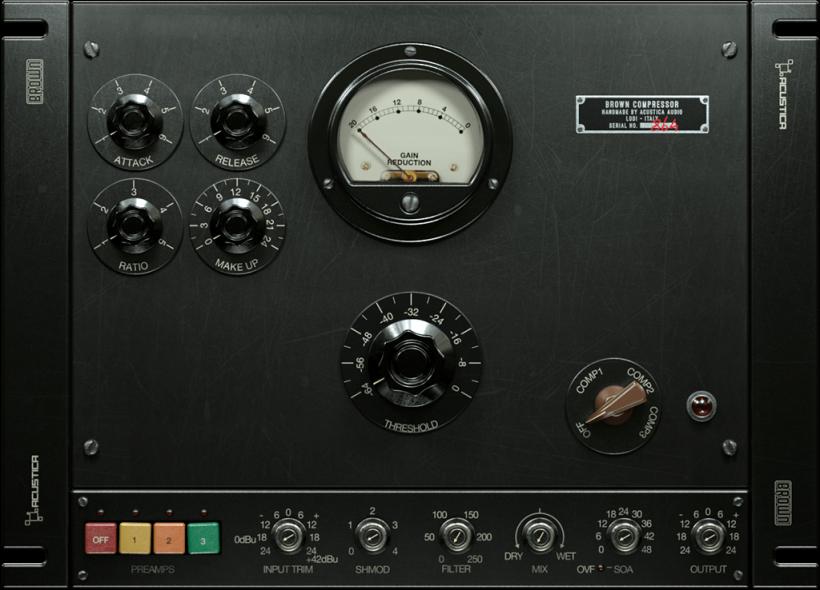 搬运工:Brown 复古美式广播音频硬件仿真插件包