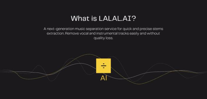 福利:LALAL.AI 帮你在线提取音乐中的人声