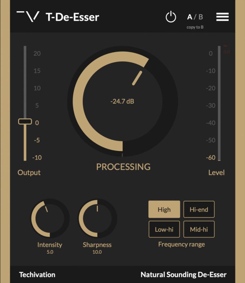 搬运福利:免费的消齿音插件 T-De-Esser 下载