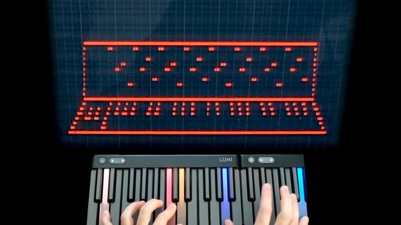 用 MIDI 键盘通过 MIDI 绘制 MIDI 键盘