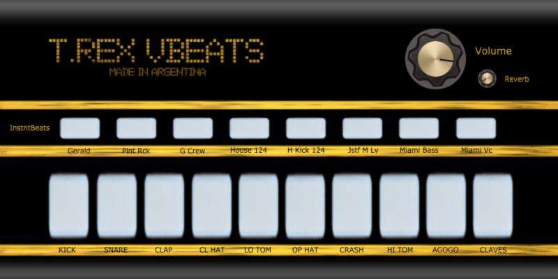 福利:T.Rex vBeats 鼓组音源插件免费下载