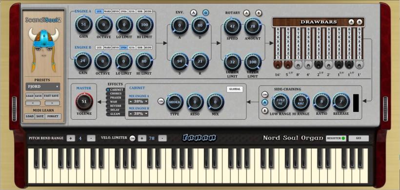 插件模拟 Nord soul 风琴的声音