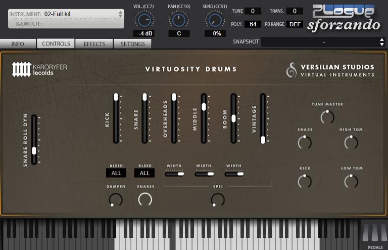 福利:Virtuosity Drums 鼓组音源插件免费下载