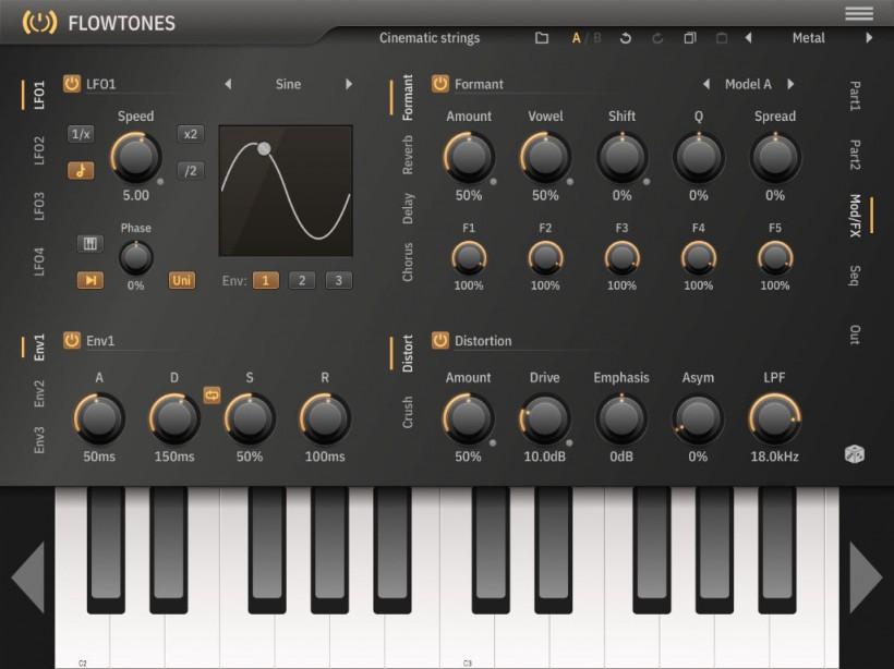 功能强大的虚拟模拟合成器插件 Flowtones