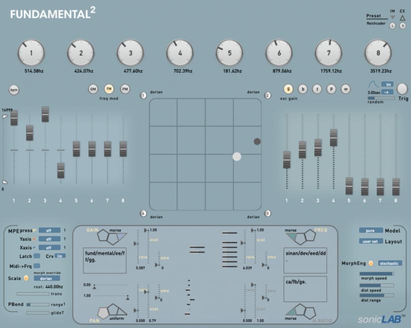 Fundamental2 实验性电子合成器插件