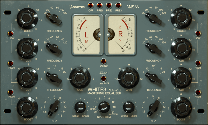 Acustica Audio White3 母带处理插件包
