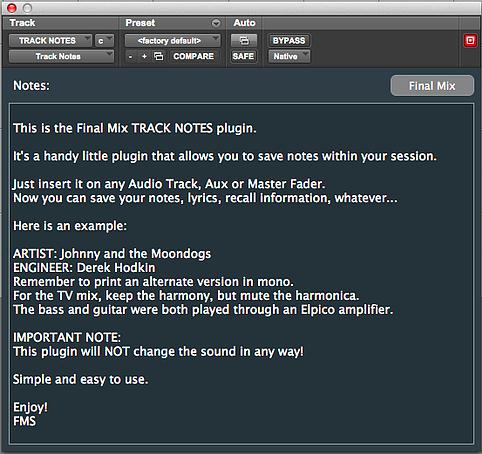 限免福利:Track Notes 记事本插件免费下载