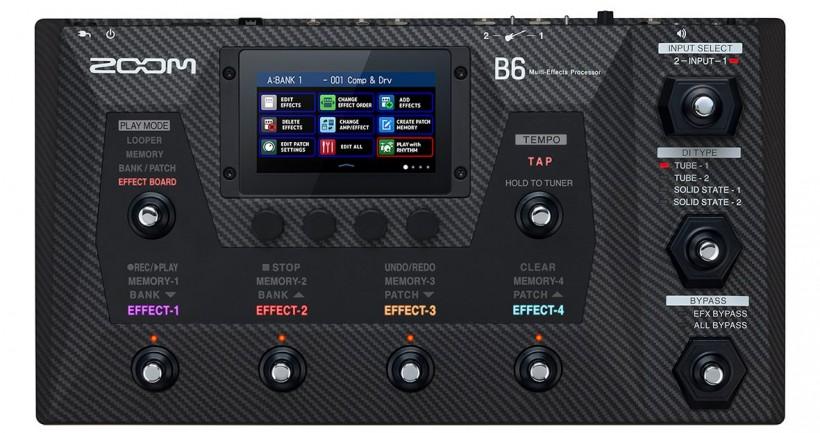 Zoom 推出新款彩色触摸屏贝斯综合效果踏板 B6