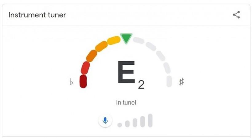 现在你可以打开 Google 搜索来给乐器调音了
