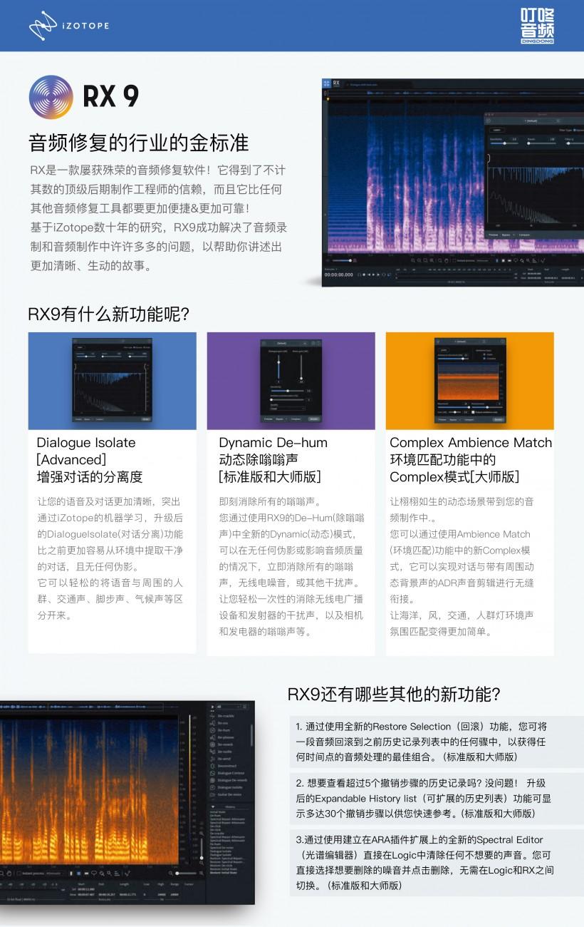 音频修复行业金标准:iZotope 发布 RX 9